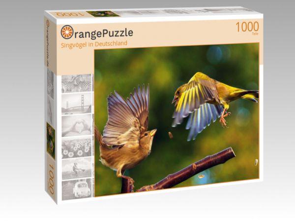 """Puzzle Motiv """"Singvögel in Deutschland"""" - Puzzle-Schachtel zu 1000 Teile Puzzle"""