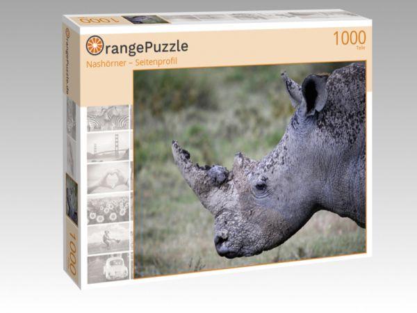 """Puzzle Motiv """"Nashörner – Seitenprofil"""" - Puzzle-Schachtel zu 1000 Teile Puzzle"""