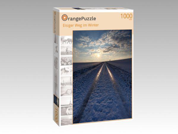"""Puzzle Motiv """"Eisiger Weg im Winter"""" - Puzzle-Schachtel zu 1000 Teile Puzzle"""