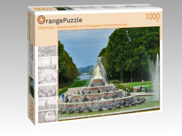 """Puzzle Motiv """"Chiemsee - Wasserspiele im Schlosspark Herrenchiemsee"""" - Puzzle-Schachtel zu 1000 Teile Puzzle"""
