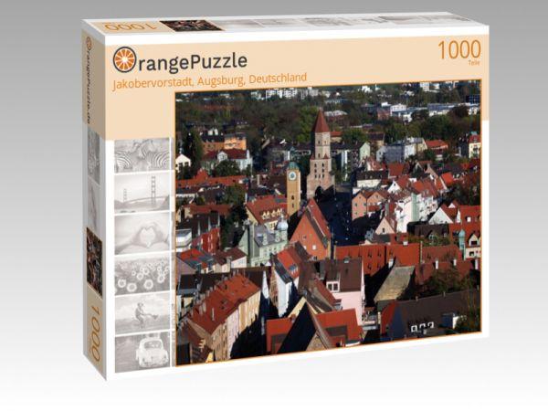 """Puzzle Motiv """"Jakobervorstadt, Augsburg, Deutschland"""" - Puzzle-Schachtel zu 1000 Teile Puzzle"""