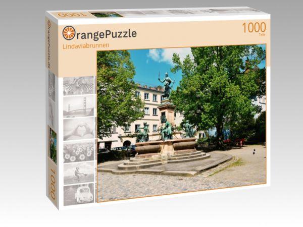 "Puzzle Motiv ""Lindaviabrunnen"" - Puzzle-Schachtel zu 1000 Teile Puzzle"