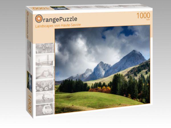 """Puzzle Motiv """"Landscapes von Haute-Savoie"""" - Puzzle-Schachtel zu 1000 Teile Puzzle"""