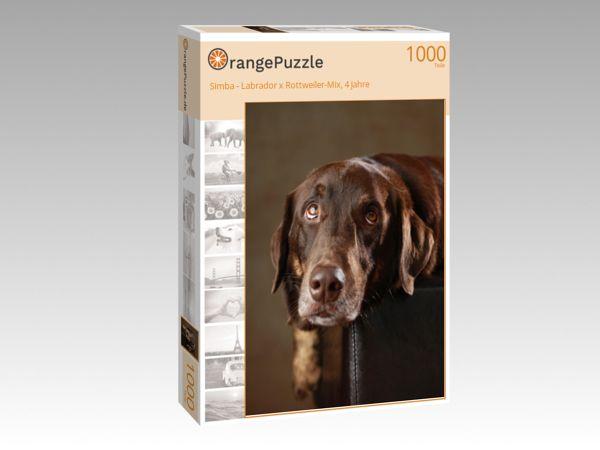 """Puzzle Motiv """"Simba - Labrador x Rottweiler-Mix, 4 Jahre"""" - Puzzle-Schachtel zu 1000 Teile Puzzle"""