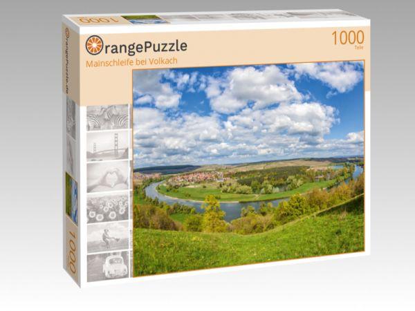 """Puzzle Motiv """"Mainschleife bei Volkach"""" - Puzzle-Schachtel zu 1000 Teile Puzzle"""