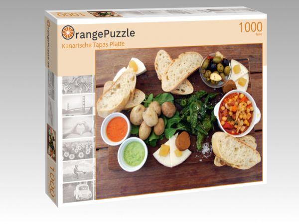 "Puzzle Motiv ""Kanarische Tapas Platte"" - Puzzle-Schachtel zu 1000 Teile Puzzle"