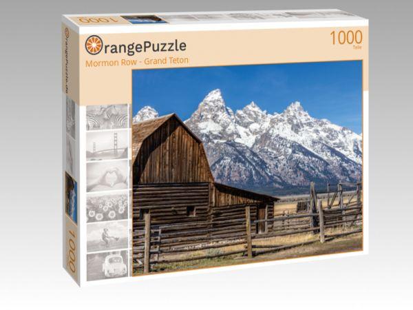 """Puzzle Motiv """"Mormon Row - Grand Teton"""" - Puzzle-Schachtel zu 1000 Teile Puzzle"""