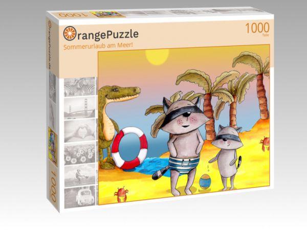 """Puzzle Motiv """"Sommerurlaub am Meer!"""" - Puzzle-Schachtel zu 1000 Teile Puzzle"""