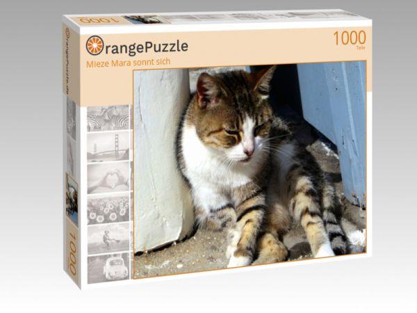 """Puzzle Motiv """"Mieze Mara sonnt sich"""" - Puzzle-Schachtel zu 1000 Teile Puzzle"""