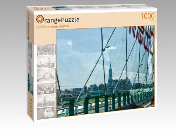 """Puzzle Motiv """"Straßenszene Taipeh"""" - Puzzle-Schachtel zu 1000 Teile Puzzle"""