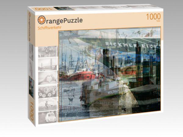 """Puzzle Motiv """"Schiffsverkehr"""" - Puzzle-Schachtel zu 1000 Teile Puzzle"""