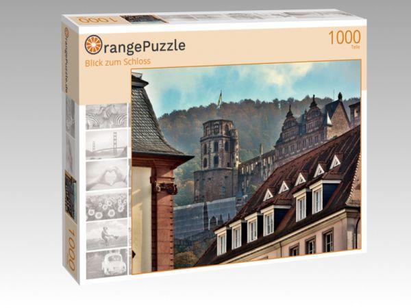 "Puzzle Motiv ""Blick zum Schloss"" - Puzzle-Schachtel zu 1000 Teile Puzzle"