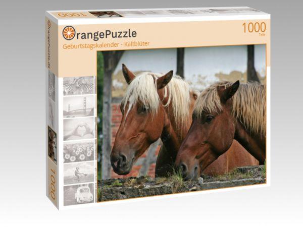 """Puzzle Motiv """"Geburtstagskalender - Kaltblüter"""" - Puzzle-Schachtel zu 1000 Teile Puzzle"""