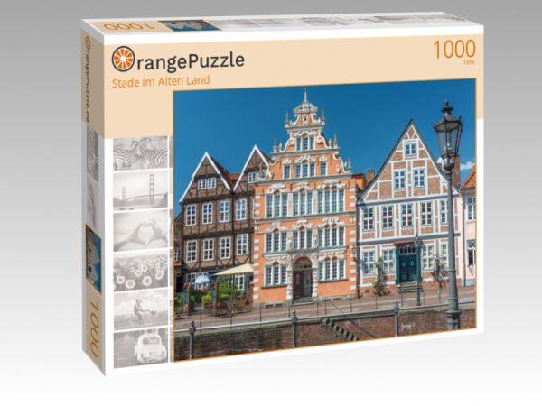 """Puzzle Motiv """"Stade im Alten Land"""" - Puzzle-Schachtel zu 1000 Teile Puzzle"""