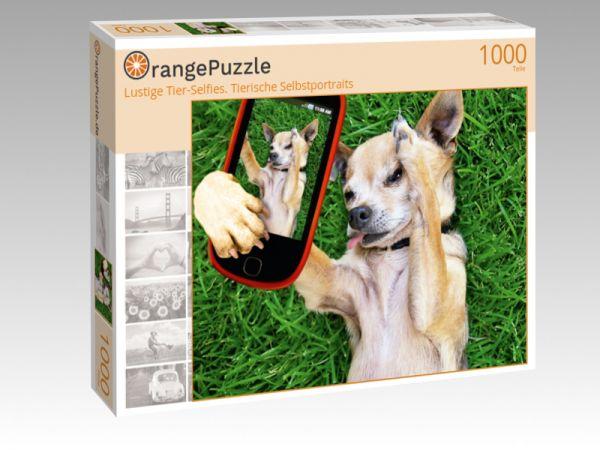 """Puzzle Motiv """"Lustige Tier-Selfies. Tierische Selbstportraits"""" - Puzzle-Schachtel zu 1000 Teile Puzzle"""