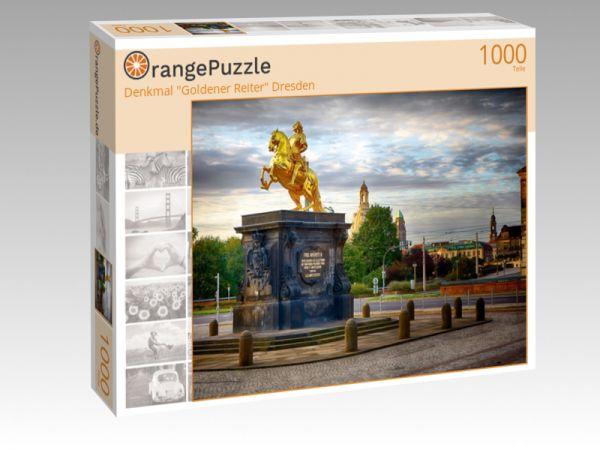 """Puzzle Motiv """"Denkmal """"Goldener Reiter"""" Dresden"""" - Puzzle-Schachtel zu 1000 Teile Puzzle"""