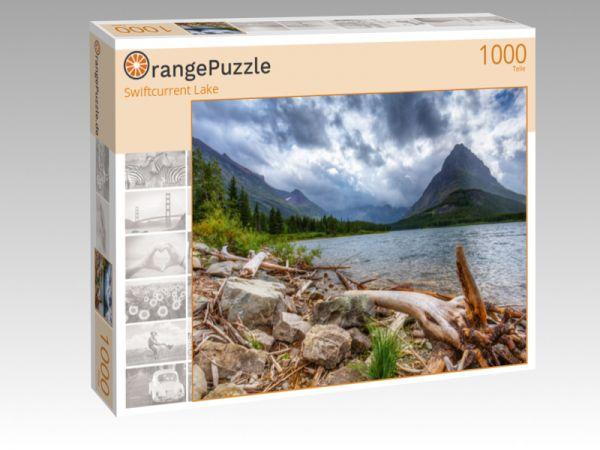 """Puzzle Motiv """"Swiftcurrent Lake"""" - Puzzle-Schachtel zu 1000 Teile Puzzle"""