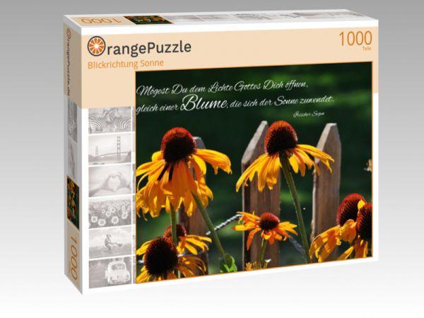 """Puzzle Motiv """"Blickrichtung Sonne"""" - Puzzle-Schachtel zu 1000 Teile Puzzle"""