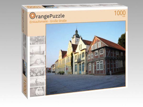 """Puzzle Motiv """"Einkaufsmeile - Große Straße"""" - Puzzle-Schachtel zu 1000 Teile Puzzle"""