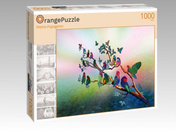"Puzzle Motiv ""Kleine Papageien"" - Puzzle-Schachtel zu 1000 Teile Puzzle"