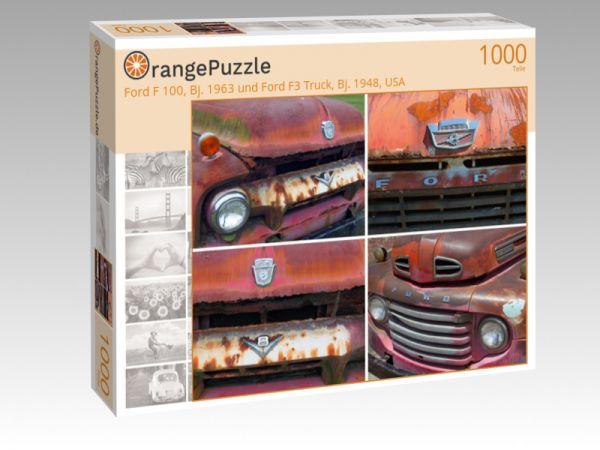 "Puzzle Motiv ""Ford F 100, Bj. 1963 und Ford F3 Truck, Bj. 1948, USA"" - Puzzle-Schachtel zu 1000 Teile Puzzle"