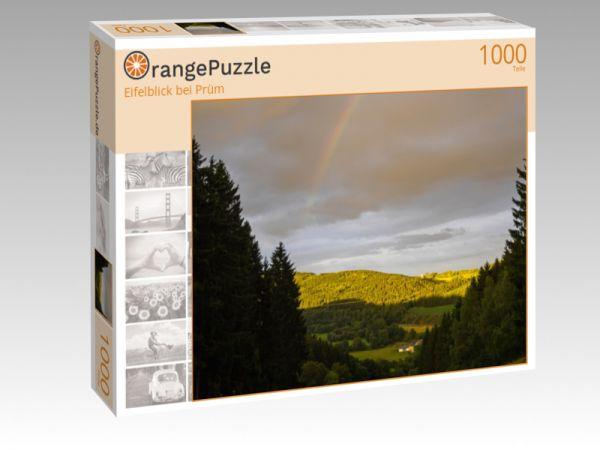 """Puzzle Motiv """"Eifelblick bei Prüm"""" - Puzzle-Schachtel zu 1000 Teile Puzzle"""