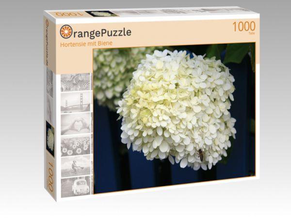 """Puzzle Motiv """"Hortensie mit Biene"""" - Puzzle-Schachtel zu 1000 Teile Puzzle"""