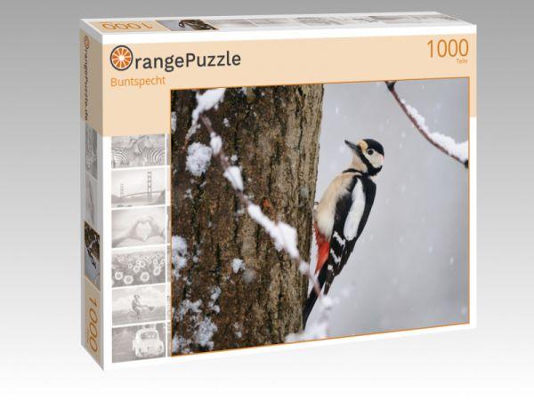 """Puzzle Motiv """"Buntspecht"""" - Puzzle-Schachtel zu 1000 Teile Puzzle"""