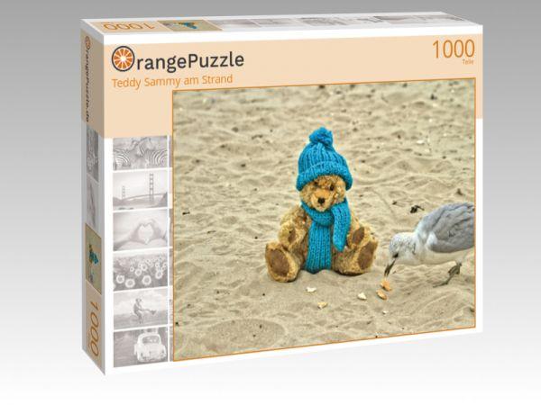 """Puzzle Motiv """"Teddy Sammy am Strand"""" - Puzzle-Schachtel zu 1000 Teile Puzzle"""