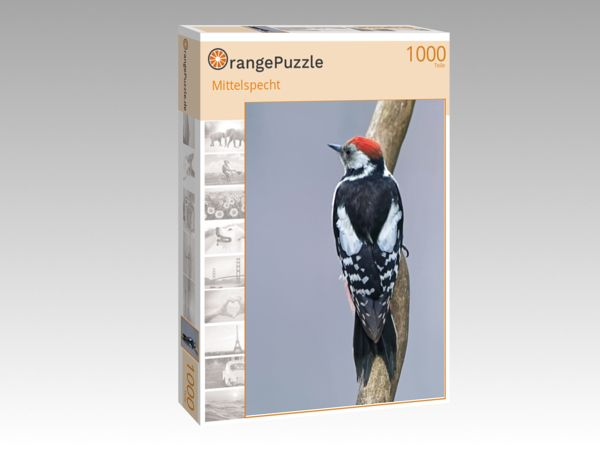 "Puzzle Motiv ""Mittelspecht"" - Puzzle-Schachtel zu 1000 Teile Puzzle"