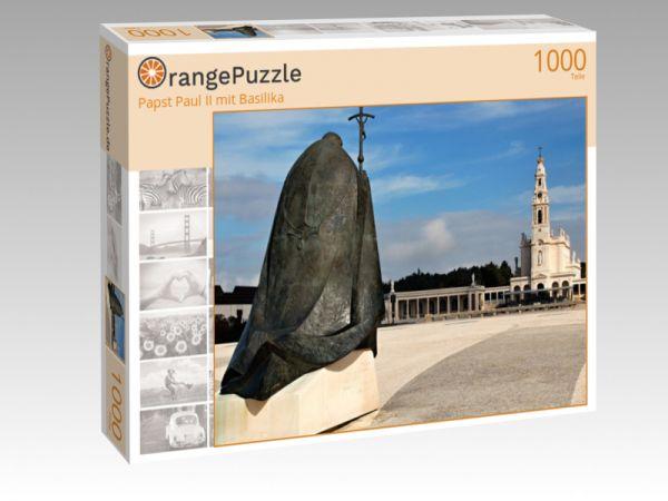 """Puzzle Motiv """"Papst Paul II mit Basilika"""" - Puzzle-Schachtel zu 1000 Teile Puzzle"""