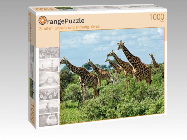 """Puzzle Motiv """"Giraffen. Graziös und anmutig. Kenia"""" - Puzzle-Schachtel zu 1000 Teile Puzzle"""