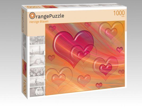 """Puzzle Motiv """"Herzige Blasen"""" - Puzzle-Schachtel zu 1000 Teile Puzzle"""