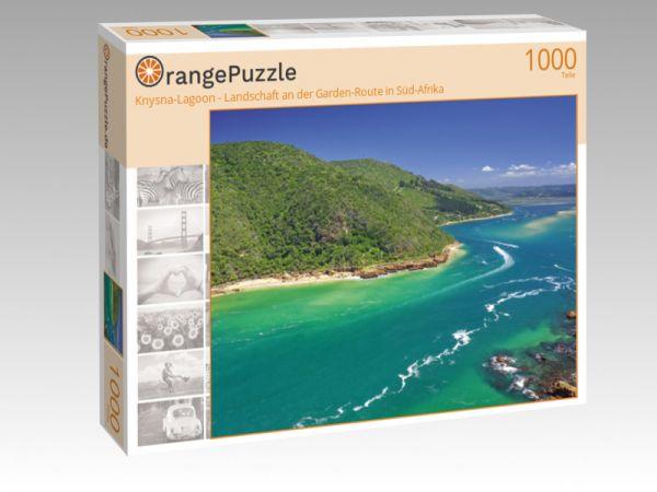 """Puzzle Motiv """"Knysna-Lagoon - Landschaft an der Garden-Route in Süd-Afrika"""" - Puzzle-Schachtel zu 1000 Teile Puzzle"""