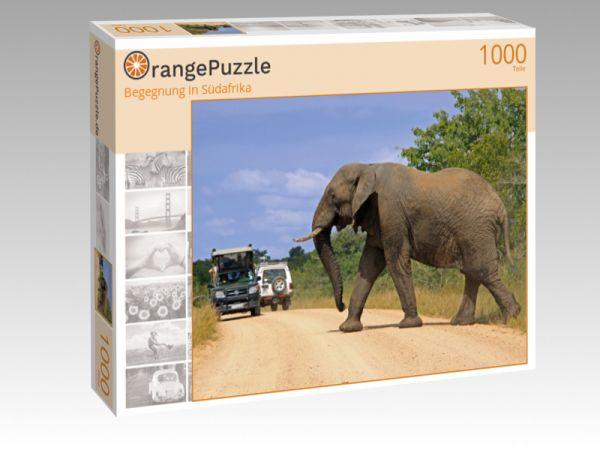 """Puzzle Motiv """"Begegnung in Südafrika"""" - Puzzle-Schachtel zu 1000 Teile Puzzle"""
