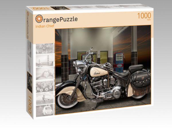 """Puzzle Motiv """"Indian Chief"""" - Puzzle-Schachtel zu 1000 Teile Puzzle"""