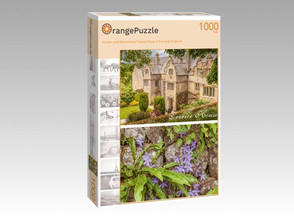 """Puzzle Motiv """"Garten und Herrenhaus Trerice House in Cornwall, England"""" - Puzzle-Schachtel zu 1000 Teile Puzzle"""