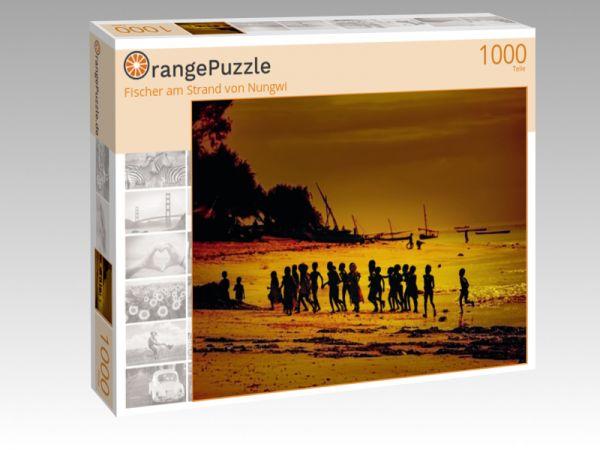 """Puzzle Motiv """"Fischer am Strand von Nungwi"""" - Puzzle-Schachtel zu 1000 Teile Puzzle"""