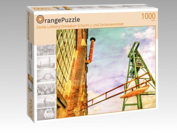 """Puzzle Motiv """"Zeche Lohberg Dinslaken Schacht 2 und Zechenwerkstatt"""" - Puzzle-Schachtel zu 1000 Teile Puzzle"""