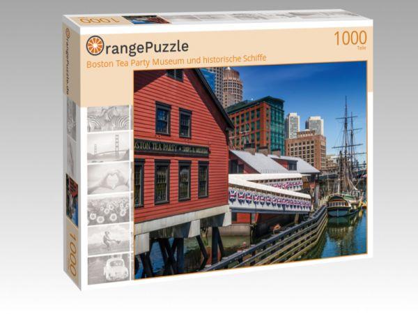 """Puzzle Motiv """"Boston Tea Party Museum und historische Schiffe"""" - Puzzle-Schachtel zu 1000 Teile Puzzle"""
