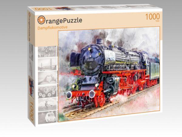 """Puzzle Motiv """"Dampflokomotive"""" - Puzzle-Schachtel zu 1000 Teile Puzzle"""