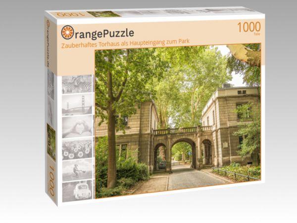 """Puzzle Motiv """"Zauberhaftes Torhaus als Haupteingang zum Park"""" - Puzzle-Schachtel zu 1000 Teile Puzzle"""