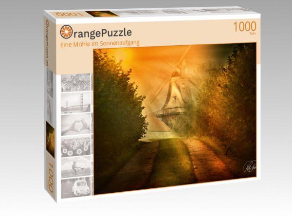 """Puzzle Motiv """"Eine Mühle im Sonnenaufgang"""" - Puzzle-Schachtel zu 1000 Teile Puzzle"""