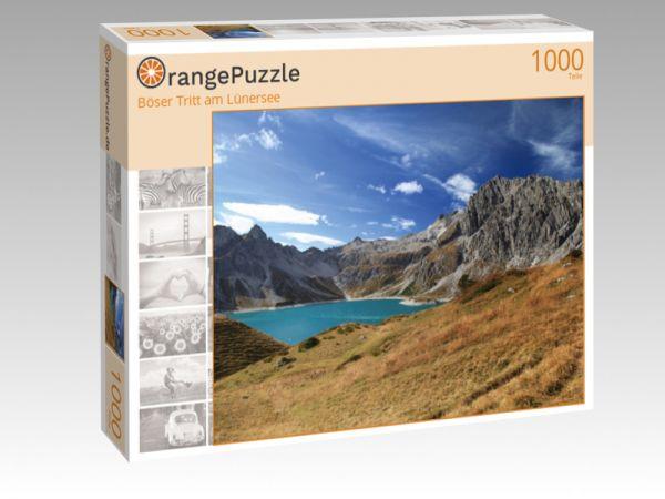 "Puzzle Motiv ""Böser Tritt am Lünersee"" - Puzzle-Schachtel zu 1000 Teile Puzzle"