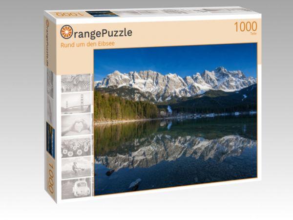 """Puzzle Motiv """"Rund um den Eibsee"""" - Puzzle-Schachtel zu 1000 Teile Puzzle"""