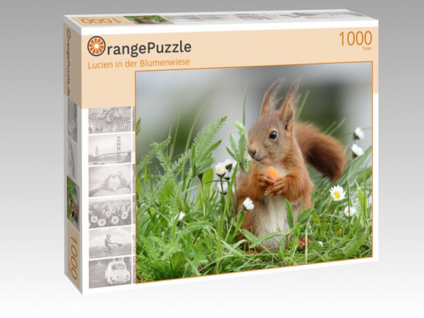 """Puzzle Motiv """"Lucien in der Blumenwiese"""" - Puzzle-Schachtel zu 1000 Teile Puzzle"""
