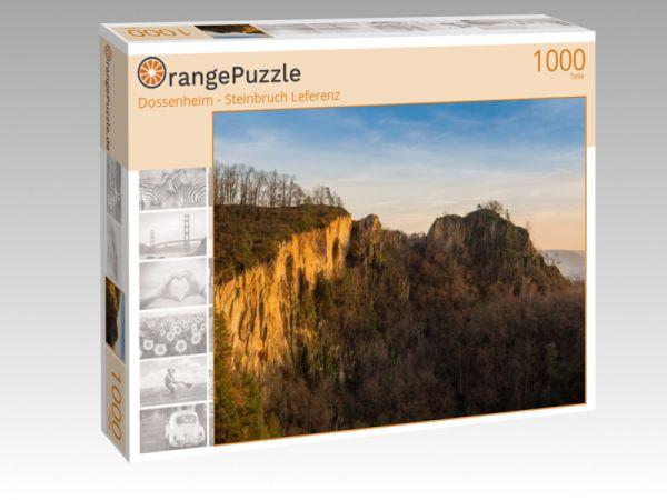 """Puzzle Motiv """"Dossenheim - Steinbruch Leferenz"""" - Puzzle-Schachtel zu 1000 Teile Puzzle"""