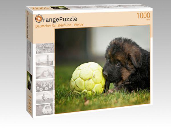 """Puzzle Motiv """"Deutscher Schäferhund - Welpe"""" - Puzzle-Schachtel zu 1000 Teile Puzzle"""