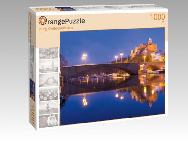 """Puzzle Motiv """"Burg Giebichenstein"""" - Puzzle-Schachtel zu 1000 Teile Puzzle"""