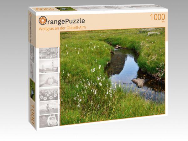 "Puzzle Motiv ""Wollgras an der Obisell-Alm"" - Puzzle-Schachtel zu 1000 Teile Puzzle"